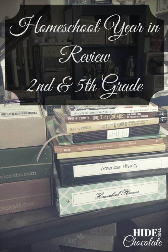 Homeschool Year in Review 2nd & 5th