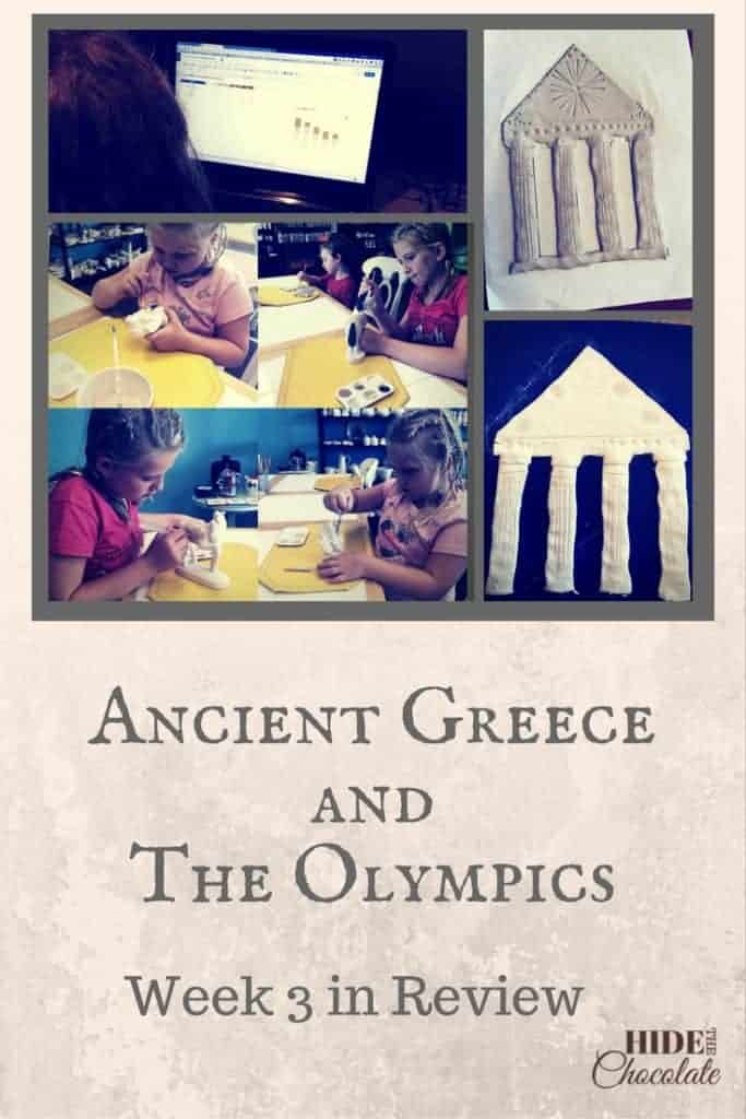 Ancient Greece and the Olympics Unit Study Week 3