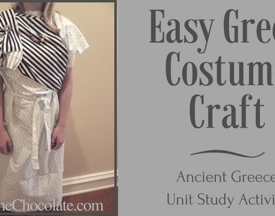Easy Greek Costume Craft