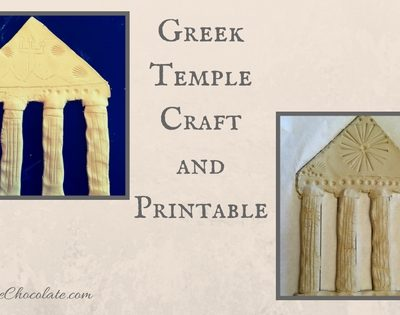 Greek Temple Craft and Printable