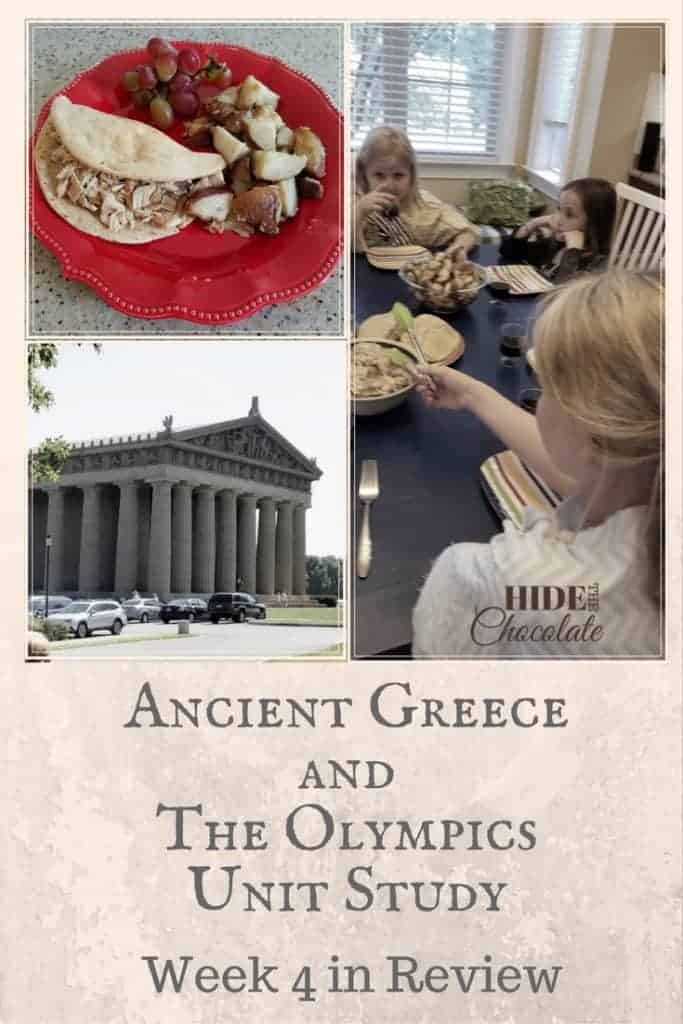 Ancient Greece and The Olympics Unit Study Week 4