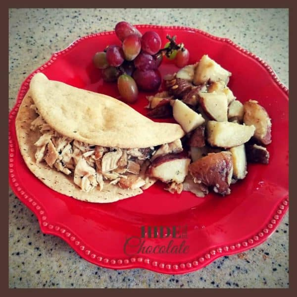 Greek Pita and Potatoes dinner