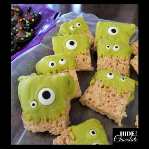 Halloween Poetry Teatime Monster Rice Krispies