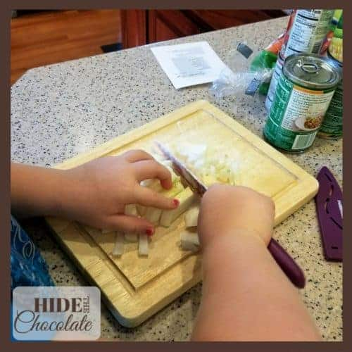 Kids Kitchen: Vegetable Soup - Chopping Pototoes