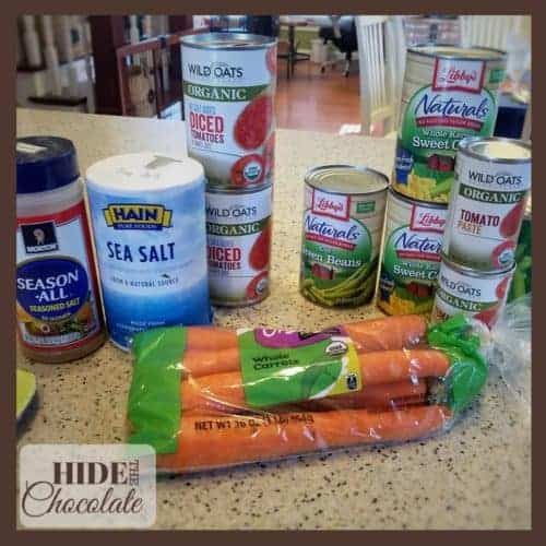 Kids Kitchen: Vegetable Soup - ingredients