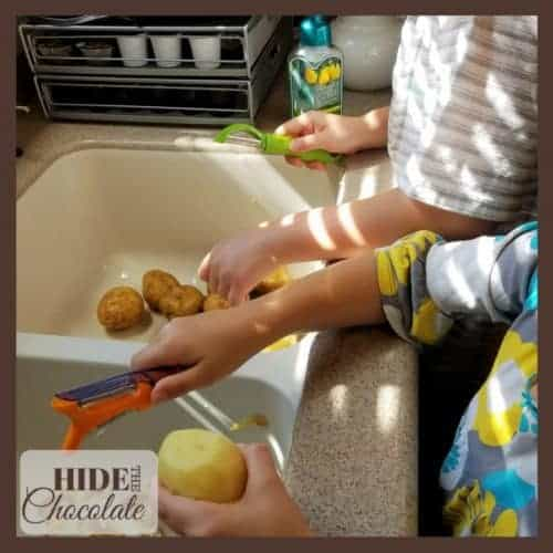 Kids Kitchen: Vegetable Soup - potato peeling