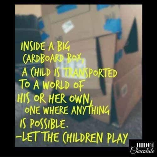 Inside a Cardboard Box