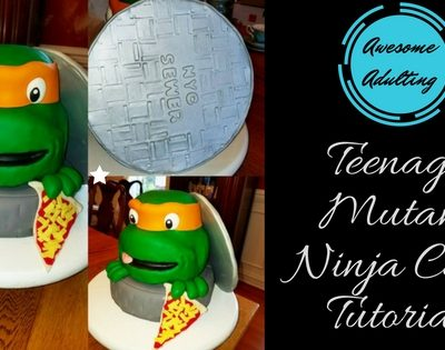Awesome Adulting: Teenage Mutant Ninja Turtle Cake Tutorial