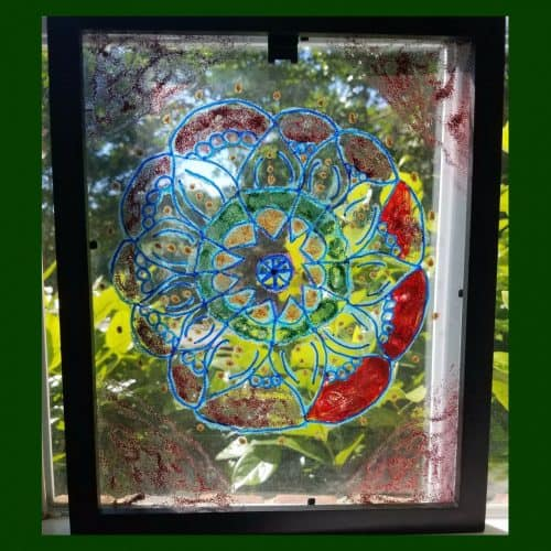 Glass Paint With Stained Glass Effect