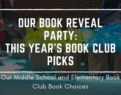 Our Book Reveal Party- This Year's Book Club Picks