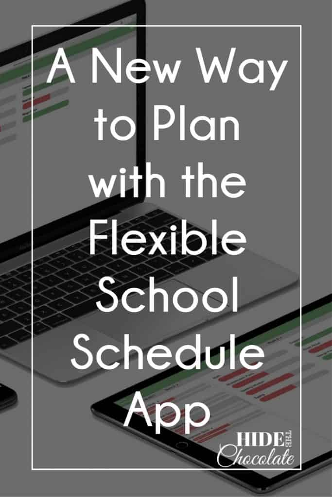 A New Way to Plan With The Flexible School Schedule App